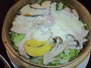 2011・01・23蒸し豚&野菜の和風チーズ