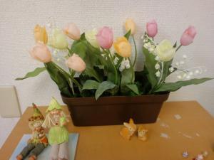 春の花壇のような花