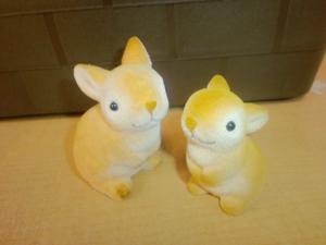 2011・01・27 造花・ウサギの親子