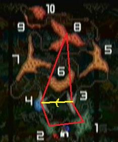 ユニクロ 火山マップ  ルート