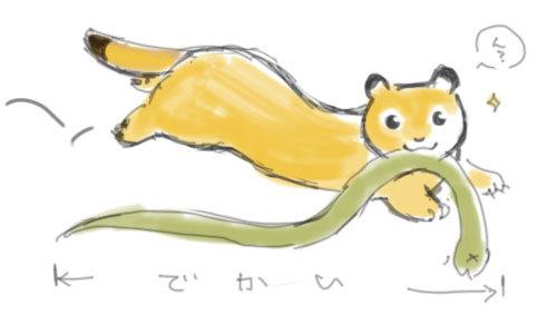 $あしあと工房 in 神戸波止場町TEN×TEN-蛇を銜えてるイタチさん