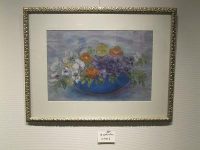 『青い花瓶の花たち』 田中宜子