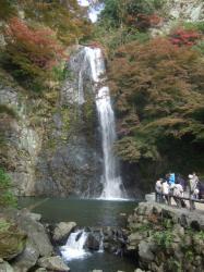 2009_1122箕面の滝 紅葉'090025