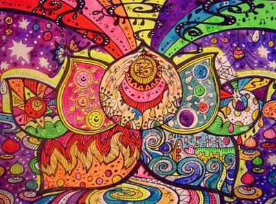 七色の蓮の花の世界観