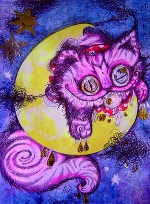美しき月の色で世界が浮かび上がる