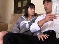 JK娘がパパを誘惑えっちだよ(*´∀`*)【はじめてのエロ】