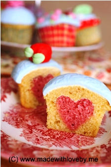 heart cupcake valentine's day