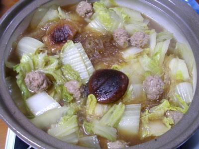 100202肉だんご鍋 (1)