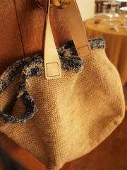 麻と裂き編みかばん