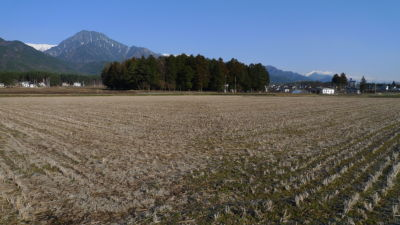 諏訪神社と有明山