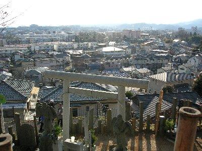 吉祥院 山頂からの景色