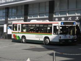 「のりものコミュニティ2010」での新刊「千姫様がみてる」より。市営バスのUDトラックス車KL-UA472KAN