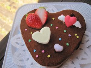 ハートチョコケーキ