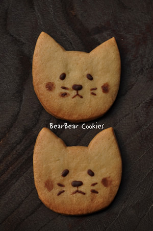 ねこクッキー大1