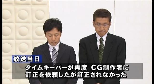 東海テレビ(不適切な放送のお詫びとご報告)8月5日8