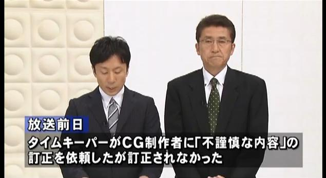 東海テレビ(不適切な放送のお詫びとご報告)8月5日7