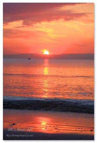 逗子海岸,夕焼け