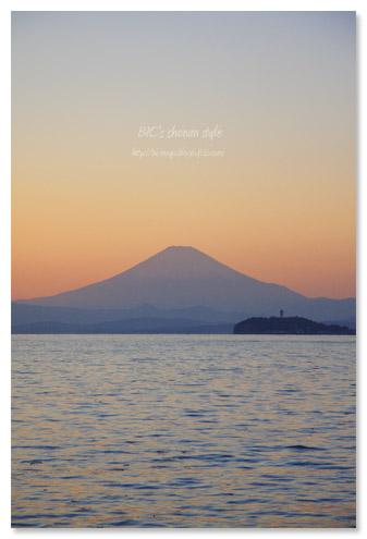 富士山、逗子湾