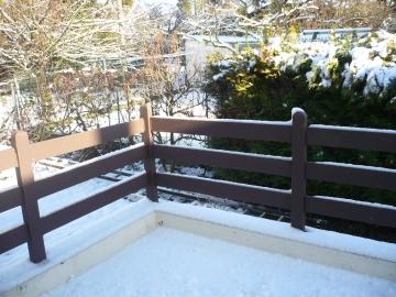 うちの庭の雪