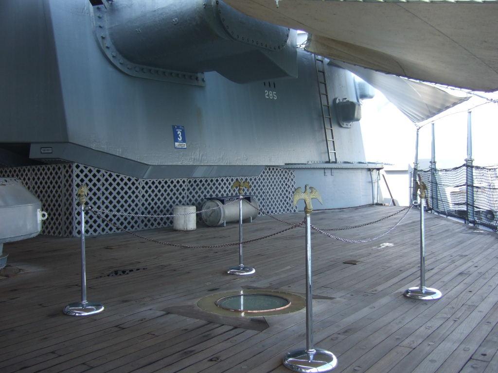 108ミズーリ調印甲板