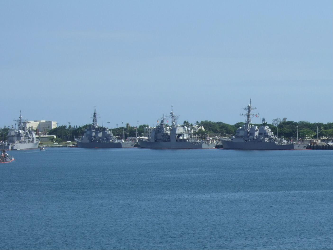 105戦艦ミズーリより自衛艦