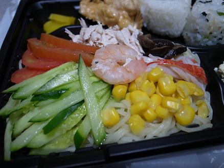 お弁当のかほり「冷やし中華弁当420円+オマケ付き」2