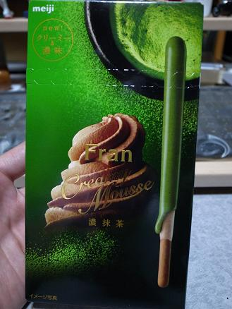 明治「Fran クリーミームース濃抹茶」