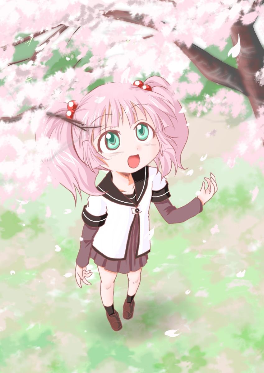 桜とチーナ