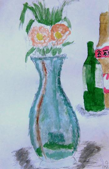 4 13.2.25中学絵画教室20回目タラート・お坊さん(朝のお布施)他ブログ用 (70)