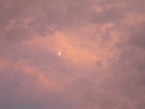0723sunset and moon