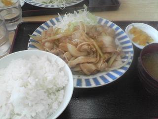 定食屋『たぬき』焼肉定食