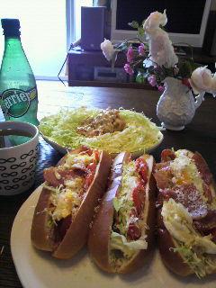 昼食 サンドイッチ