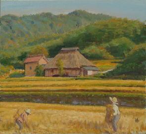 稲を刈る頃(熊野道上)