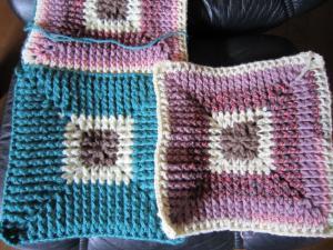 1.毛糸の座布団①