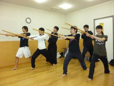 20120202全員で木刀