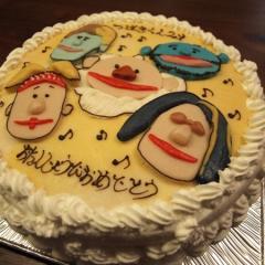 クインテットの誕生日ケーキ