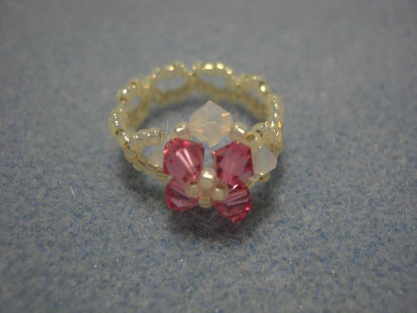 ビーズリング・ピンク