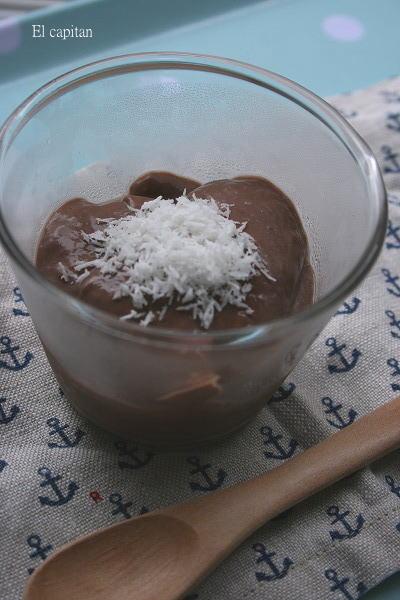 豆腐とココアのプリン風