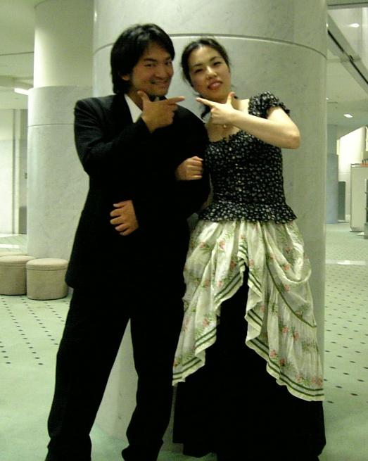 小沼俊太郎氏とチェネレントラを二重唱する智恵さん