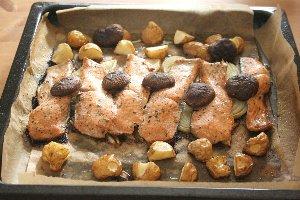 秋鮭のオーブン焼き