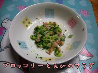 ブロッコリーとえびのサラダ