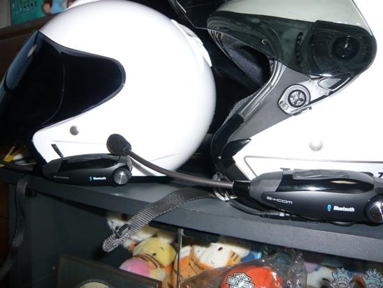 ヘルメットに取付