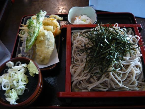 天ざるそば(野菜天)