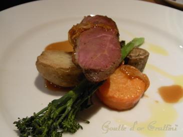 鴨肉と野菜のソテー