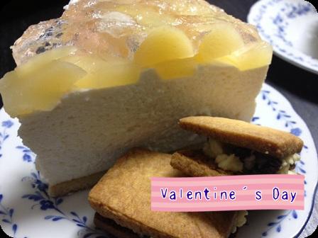 桃のヨーグルトムースケーキ・レーズンバターサンド