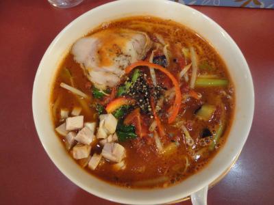 トマトスパイシー麺@アジアンラーメン チャナ姫