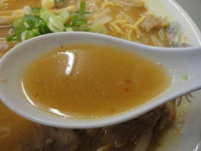 ちょい辛ラーメン スープ@まるたかラーメン