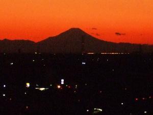 冬至富士山