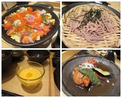 海鮮丼とお蕎麦