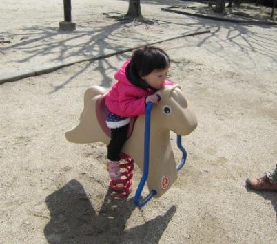 お馬でパカパカ